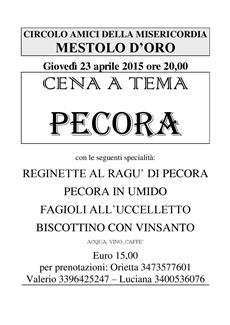 Cena Pecora